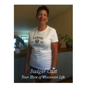 Badger Cast 24 - Julie in Canada Olympic Shirt From the Spa People